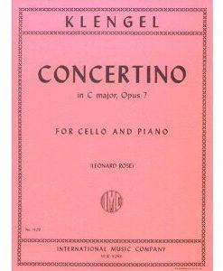Klengel Julius Concertino No1 in C Major Op. 7 Cello Piano - by Leonard Rose - International Music